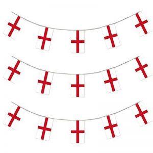 X100 Une bannière de 10 mètres composée de 20 drapeaux aux couleurs de l'Angleterre I Love Fancy Dress Wholesale - Idéal pour toutes manifestations sportives ou patriotiques - Livraison Gratuites de la marque ILOVEFANCYDRESS image 0 produit