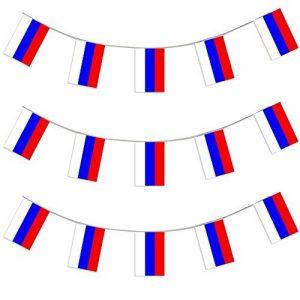 X100 Une bannière de 10 mètres composée de 20 drapeaux aux couleurs du Russie I Love Fancy Dress Wholesale - Idéal pour toutes manifestations sportives ou patriotiques - Livraison Gratuites de la marque ILOVEFANCYDRESS image 0 produit