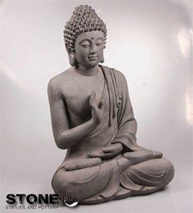 XXL Bouddha Sculpture Décoration de jardin Justice assis Gris pierre, hauteur 73cm de la marque Imhof Stevens image 0 produit
