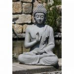 XXL Bouddha Sculpture Décoration de jardin Justice assis Gris pierre, hauteur 73cm de la marque Imhof Stevens image 1 produit