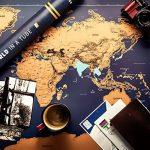 XXL rubbel Carte du monde–rubbel Scratch Map–Carte du monde à gratter de tous les pays–La Souvenir de chaque parfaite de votre carte voyage | Viva Loo (avec drapeaux) de la marque Vivaloo image 1 produit
