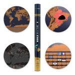 XXL rubbel Carte du monde–rubbel Scratch Map–Carte du monde à gratter de tous les pays–La Souvenir de chaque parfaite de votre carte voyage | Viva Loo (avec drapeaux) de la marque Vivaloo image 2 produit