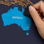 XXL rubbel Carte du monde–rubbel Scratch Map–Carte du monde à gratter de tous les pays–La Souvenir de chaque parfaite de votre carte voyage | Viva Loo (avec drapeaux) de la marque Vivaloo image 3 produit