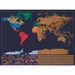 XXL rubbel Carte du monde–rubbel Scratch Map–Carte du monde à gratter de tous les pays–La Souvenir de chaque parfaite de votre carte voyage | Viva Loo (avec drapeaux) de la marque Vivaloo image 4 produit