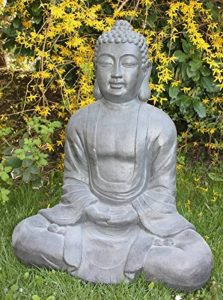 XXXL Grand Bouddha Feng Shui Statue Figurine de jardin pierre 80cm assis de la marque Worldconnection image 0 produit