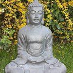 XXXL Grand Bouddha Feng Shui Statue Figurine de jardin pierre 80cm assis de la marque Worldconnection image 1 produit