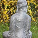 XXXL Grand Bouddha Feng Shui Statue Figurine de jardin pierre 80cm assis de la marque Worldconnection image 3 produit