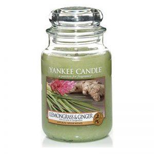 Yankee Candle 1507704E Bougie Parfumée Grande Jarre Citronnelle et Gingembre Combinaison Vert 11 x 11 x 20 cm 623 g de la marque Yankee Candle image 0 produit