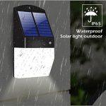 Yiiyaa 2018NEUF des lampes solaires Ultra Lumineux détecteur de mouvement extérieur micro-onde lampe étanche sans fil crépusculaire Soleil d'éclairage Veilleuse pour jardin terrasse Jardin Clôture et Allée (lot de 2) de la marque yiiyaa image 2 produit