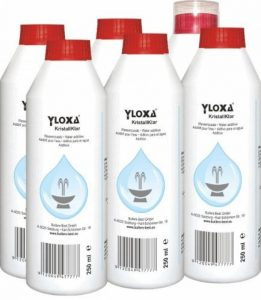 Yloxa KristallKlar – Additif concentré pour l'eau des fontaines, murs, colonnes, cascades et brumisateurs d'eau pour l'intérieur et l'extérieur – flacon de 6 x 250 ml de la marque Butlers-Best image 0 produit