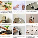 Yosoo DIY 3D Horloge Murale Design Géante Grande Taille Moderne Ronde avec Chiffres pour Décoration Salon Bureau - Style 2, Noire de la marque Yosoo image 1 produit
