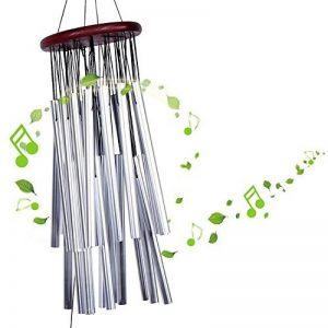 Yosoo Grand Vent Carillon 27 tubes en métal argenté Tube église Maison Jardin Cloches Décorations à suspendre en extérieur carillon avec cloches de la marque Yosoo® image 0 produit