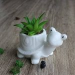 Youfui Cute Animal Pot de fleurs Pot de fleurs artificielles Décoration pour Home Office Desk (Tortue + Escargot) de la marque Youfui image 2 produit