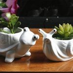 Youfui Cute Animal Pot de fleurs Pot de fleurs artificielles Décoration pour Home Office Desk (Tortue + Escargot) de la marque Youfui image 4 produit