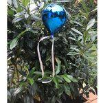 Your Castle Arbre Bijoux Accessoires Ballon en plastique Décoration de jardin Différentes couleurs Brillant 20x 15cm Haute qualité. Pour intérieur et résistant aux intempéries pour extérieur avec suspension et ruban bleu de la marque your castle image 1 produit
