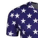 YuanDian 2018 Football Coupe du Monde Fans T-Shirt Homme Femme Ventilateurs 3D Impression De Drapeau National Manche Courte France Foot Ete Tee Shirts Chemise de la marque YuanDian image 4 produit