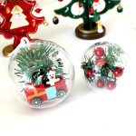 YUYIKES Boules de Noël Lot de 10, Boules de Décoration transparentes en plastique pour Noël, Pâque, Anniversaire,4 cm de la marque YUYIKES image 1 produit