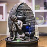 Zen Light Bouddha Grace Fontaine, Résine, Bronze, 26 x 26 x 40 cm de la marque Zen Light image 3 produit