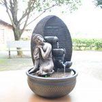 Zen Light Bouddha Grace Fontaine, Résine, Bronze, 26 x 26 x 40 cm de la marque Zen Light image 6 produit
