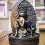 Zen Light Bouddha Grace Fontaine, Résine, Bronze, 26 x 26 x 40 cm de la marque Zen Light image 1 produit