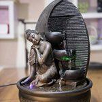 Zen Light Bouddha Grace Fontaine, Résine, Bronze, 26 x 26 x 40 cm de la marque Zen Light image 2 produit