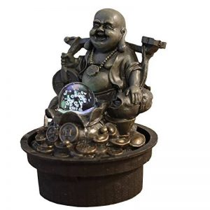 Zen Light Bouddha Voyageur Fontaine, Résine, Bronze, 17 x 17 x 22 cm de la marque Zen Light image 0 produit