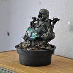 Zen Light Bouddha Voyageur Fontaine, Résine, Bronze, 17 x 17 x 22 cm de la marque Zen Light image 1 produit