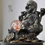 Zen Light Bouddha Voyageur Fontaine, Résine, Bronze, 17 x 17 x 22 cm de la marque Zen Light image 4 produit
