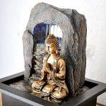 Zen'Light Bouddha Zen Dao Fontaine, Résine, Bronze, 21 x 17 x 25 cm de la marque Zen Light image 4 produit