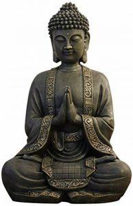 Zen'Light Grande Statue Bouddha Médiation, Résine, Bonze, 30 x 25 x 50 cm de la marque Zen Light image 0 produit