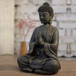 Zen'Light Grande Statue Bouddha Médiation, Résine, Bonze, 30 x 25 x 50 cm de la marque Zen Light image 1 produit