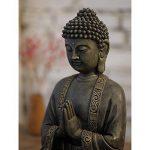 Zen'Light Grande Statue Bouddha Médiation, Résine, Bonze, 30 x 25 x 50 cm de la marque Zen Light image 2 produit