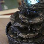 Zen Light LITTLE-ROCK Fontaine Polyrésine Marron Foncé 20 x 20 x 23 cm de la marque Zen Light image 1 produit