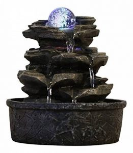 Zen Light LITTLE-ROCK Fontaine Polyrésine Marron Foncé 20 x 20 x 23 cm de la marque Zen Light image 0 produit