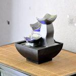 Zen Light Nature Boro Fontaine, Résine, Argent, 13 x 13 x 17 cm de la marque Zen Light image 2 produit