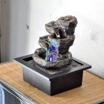 Zen'Light Nature Galou Fontaine, Résine, Gris, 21 x 17 x 23 cm de la marque Zen Light image 2 produit