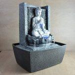Zen Light SCFRB1 Fontaine d'Intérieur Mur Bouddha Prière Gris Foncé/Noir 20 x 15 x 26 cm de la marque Zen Light image 1 produit