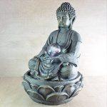 Zen Light SCFRB8G Bouddha Médiation Grand Fontaine d'Intérieur Marron Foncé/Chocolat 21 x 21 x 30 cm de la marque Zen Light image 1 produit