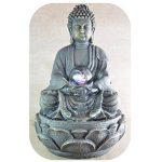 Zen Light SCFRB8G Bouddha Médiation Grand Fontaine d'Intérieur Marron Foncé/Chocolat 21 x 21 x 30 cm de la marque Zen Light image 4 produit