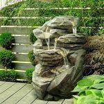 Zen Light SCFRG58 Niagara Grand Fontaine de Jardin Pierre 54 x 42 x 70 cm de la marque Zen Light image 1 produit