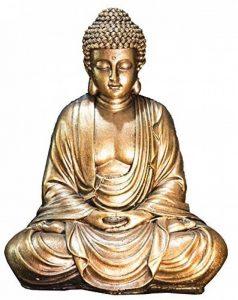Zen'Light Statue Bouddha, Résine, Or, 16 x 10 x 20 cm de la marque Zen Light image 0 produit