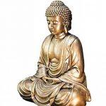 Zen'Light Statue Bouddha, Résine, Or, 16 x 10 x 20 cm de la marque Zen Light image 1 produit