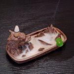 Zingyou Dragon Porte-encens en céramique le Reflux avec cônes d'encens pour Home Decor, marron, 6.7 x 3.1 x 2.6 (inch) de la marque ZINGYOU image 3 produit