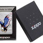 Zippo 60001499 Eagle Flag Briquet Laiton High Polish Chromé 3,5 x 1 x 5,5 cm de la marque Zippo image 4 produit
