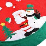 Zogin Couvre-pied de Sapin Applique de Noël 100cm Motif en Père Noël et Bonhomme de Neige Cache Pied Jupe Arbre de Noël pour Décoration de Noël de la marque ZOGIN image 2 produit