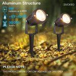 Zuckeo Lampes LED de jardin d'extérieur 5W COB spot 12V 24V Blanc Chaud lampe décorative pour jardin cour Allée (lot de 6) de la marque ZUCKEO image 2 produit