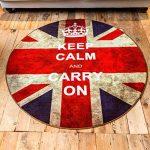 ZY HOME Personnalité de la mode ronde classique pour faire le vieux drapeau rétro Angleterre bar drapeau salon ordinateur fauteuil tapis tapis mat, 100cm * 100cm de la marque ZY HOME image 2 produit